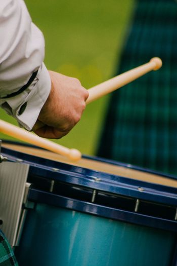 Piperband Marching Scotland Inveraray Drums Drumstick