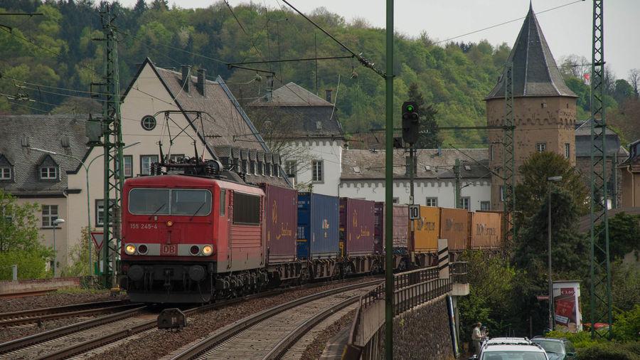155 Container Deutsche Bahn Eisenbahn Güterverkehr Linz Am Rhein Railway
