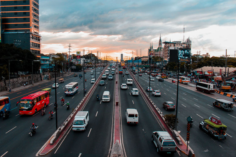 Tandang Sora Flyover. One of my favorite photography spot which is already closed due to MRT 7 construction in Commonwealth Ave, Philippines. #philippines Canon Streetphotography Street Sunset Cars Manila Transportation Cloud - Sky Motor Vehicle Canonphotography Canon700D Kitten Golden Hour Lifestyles Street Photography Pilipinas