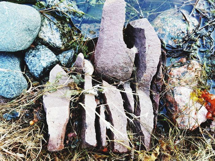 Stone Stones Stone Art Broken Broken Patterns Close-up Forming