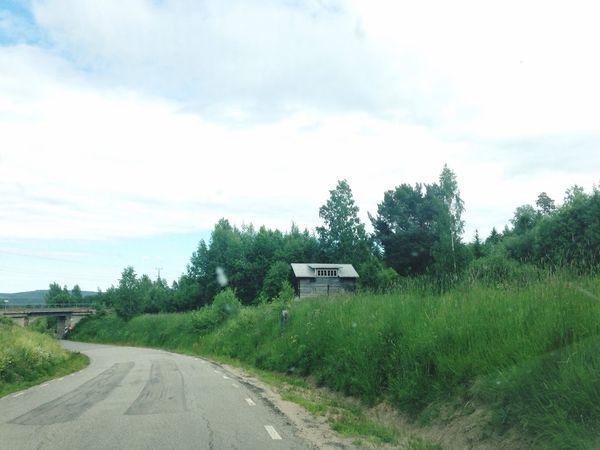 Hälsingland Beside The Road Roadtrip Railway Bridge Railway