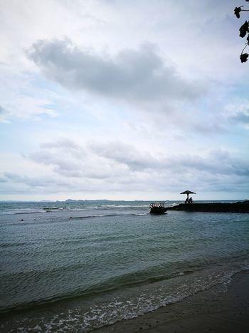 Water Sea Nautical Vessel Oil Pump Beach Sand Social Issues Sky Horizon Over Water Cloud - Sky