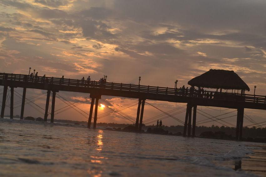 #Costa Rica Costa Rica Dock Nature Ocean Ocean View Outdoors Pacific Ocean Pier Puntarenas Sky Summer Summertime Sunset Vacation