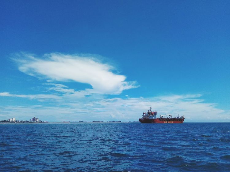 Blue Sea Ship Water Shipping  Sky