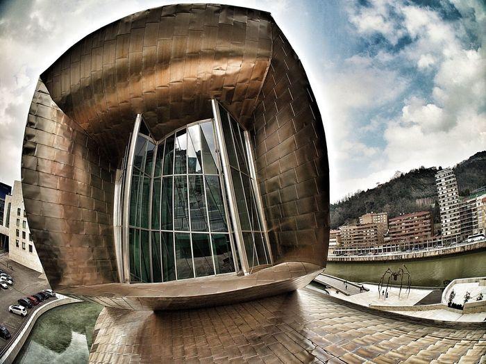 The Guggenheim's window. Architectural Feature Architecture Bilbao Built Structure City E-M1 Euskadi Famous Place Guggenheim Guggenheim Bilbao International Landmark Museum Olympus Olympus OM-D EM-1 OM-D Sky SPAIN Window