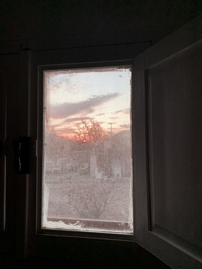 Glass window of house