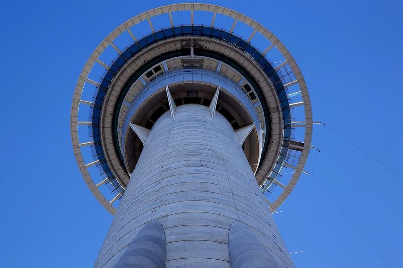 Auckland SkyTower Blue Sky new New Zealand