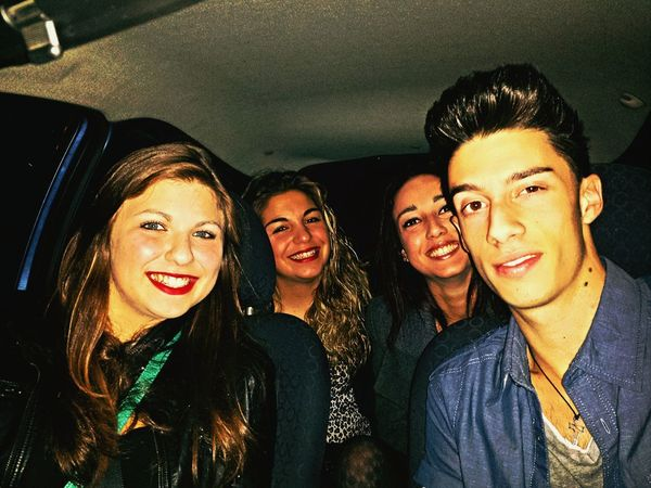 ready for the party!! Friends Inthecar