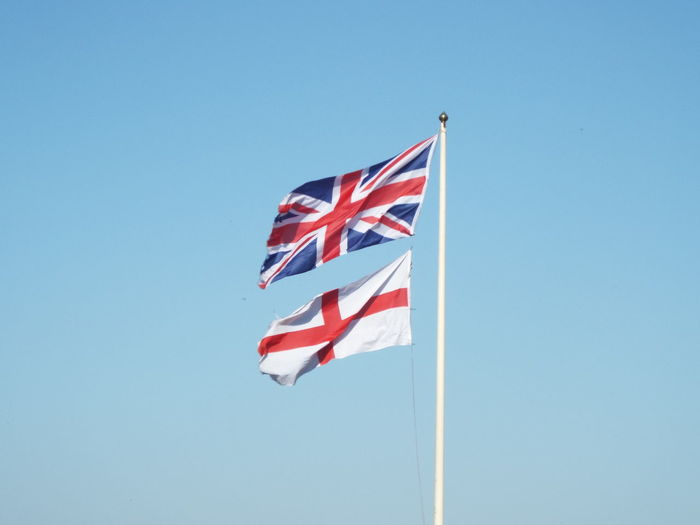 Blue Sky Flag Flag Pole Flags In The Wind  British Flag Union Jack Union Flag English Flag St George's Flag St George's Cross St Georges' Cross Flags Of The World St Georges Day St George's Day Minimalism Minimalist Architecture