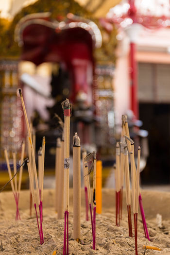 ınsence Stick Close-up Bangkok Thailand Buddhist Temple No People Tradition