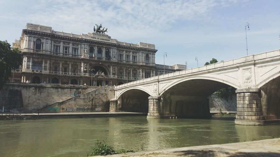Tiber Rome Italy Palazzo Di Giustizia Palace Of Justice Justizpalast Throwback