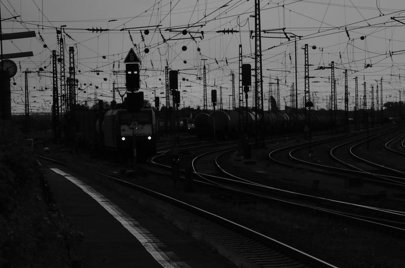 Wires Series Train Train - Vehicle Public Transportation Power Line  No People Sky Mode Of Transportation Electricity  Transportation Rail Transportation Railroad Track Track Wires EyeEmNewHere