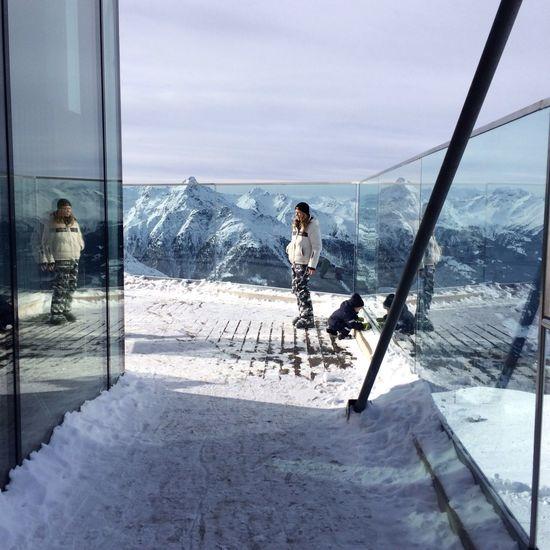 High Mountains Austria Skiing Love