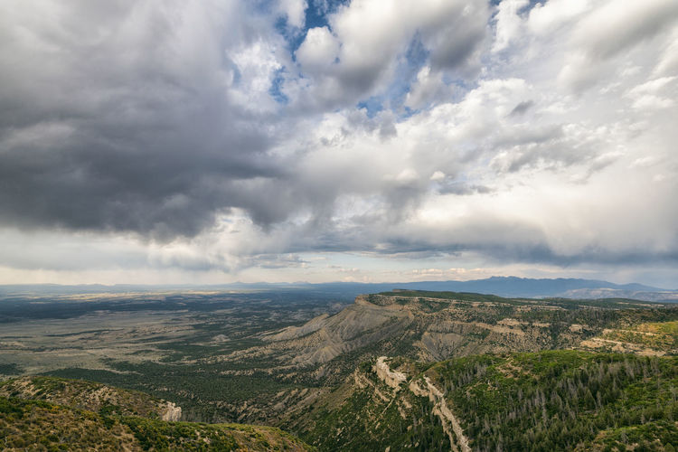 Scenic view of dramatic landscape against sky