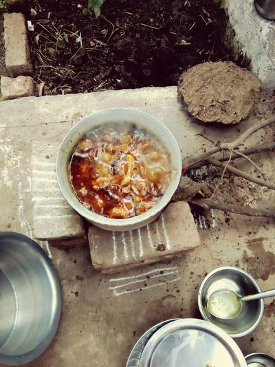 Rural Life Cooking Style High Angle View Food And Drink Food No People Bowl Freshness Healthy Eating Day Outdoors
