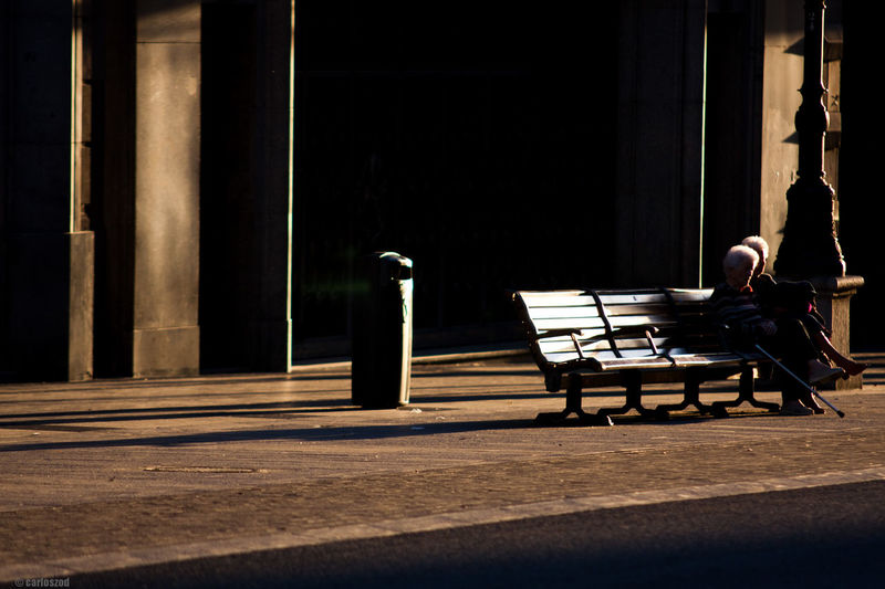 Shadow of chair on floor