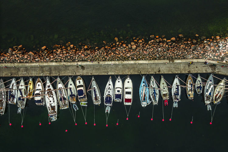 Baltic Sea Harbour Pier Sweden Abundance Aerial View Arrangement Boats Byxelkrok Choice Creativity In A Row Large Group Of Objects Metal Nature Night No People Outdoors Retail  Sea Side By Side Summer Variation Water Öland