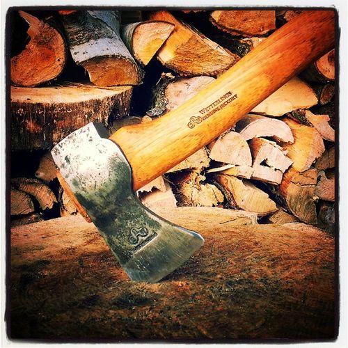 Axe Wetterlings Hickory Wood saw steel sharp edc bushcraft flybig69 artur muszynski