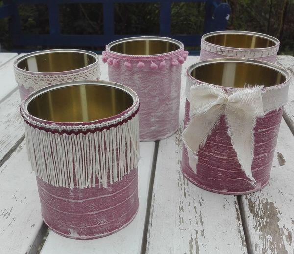 Basteln mit Konservendosen Aus Alt Mach Neu Basteln DIY DIY At Home Diy Project Recyclingbasteln Shabby Chic Upcycling