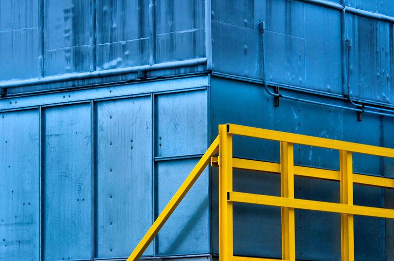 Full frame shot of blue structure