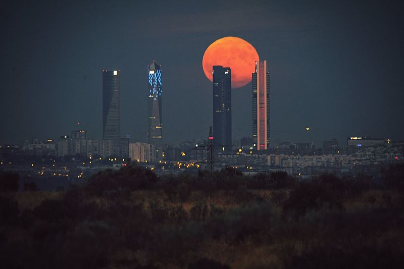 Súper Moon, Madrid EyeEmNewHere Madrid Towers No People Supermoon Moon Madrid Architecture Built Structure Building Exterior Night Plant Environment Tower No People Nature Sky Illuminated Business Finance And Industry My Best Travel Photo EyeEmNewHere