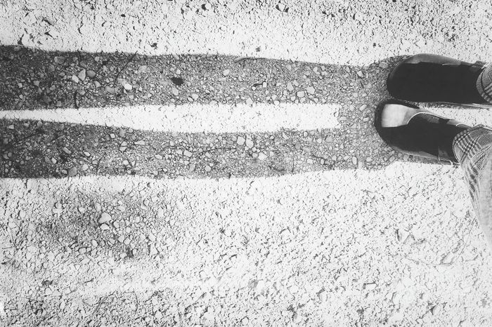 Thin shadow | Black & White Light And Shadow Getting Inspired Autumn Monochrome Birkenstock Mania Walking Around EyeEm Italy |