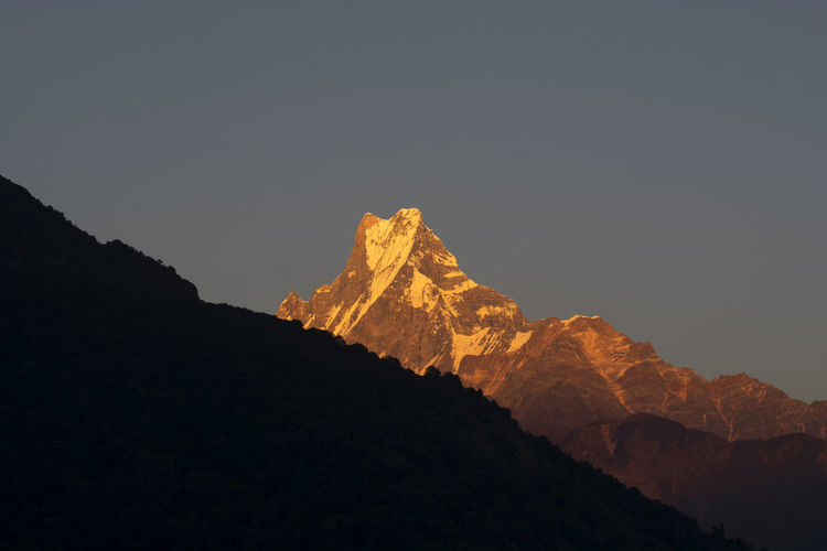Nepal Mountain Beauty In Nature Sky Mountain Range Scenics - Nature Rock Tranquil Scene Tranquility Nature Rock - Object Mountain Peak Solid No People Geology Idyllic Physical Geography Rock Formation Non-urban Scene Copy Space Formation Outdoors