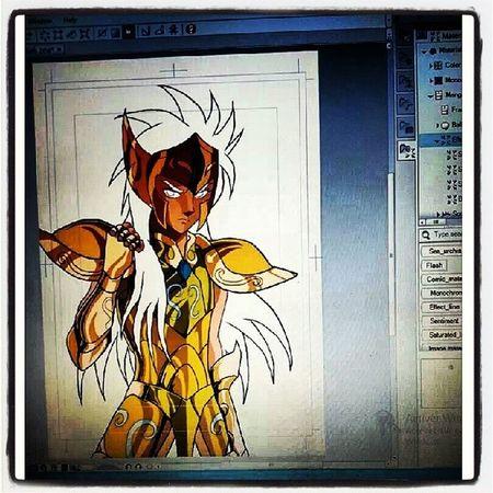 Camu st seiya draw by nico with graphictablet Drawing Art Saintseiya Seiya