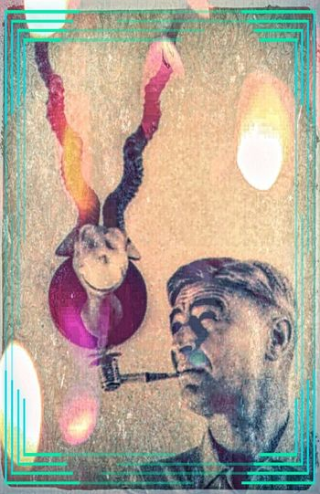 Dr. Suess and one of his creations as seen through Pixlr and Polli. Old Pic  Oldtime children's story PixlrEffects Check This Out Narratives