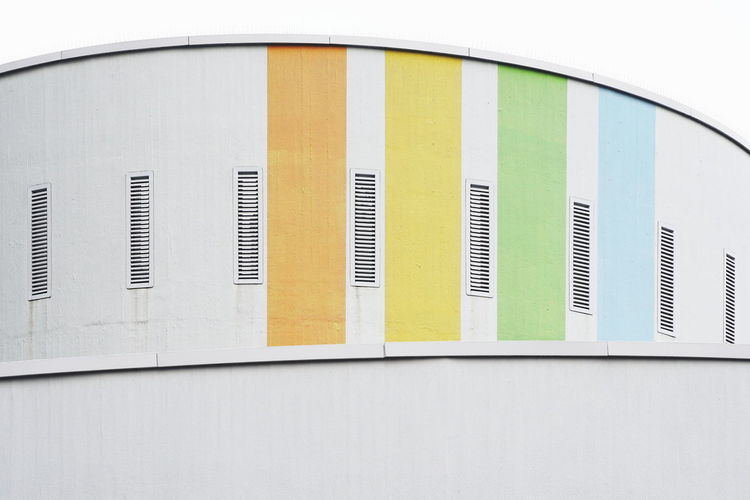 Architecture Built Structure Building Exterior Multi Colored White Color Façade Abstract Colors
