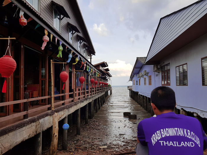 Front viwe Lanta Island Old Town Architecture City House Canal Building Exterior Lifestyles