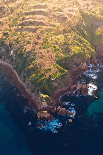Point of contention (IG @noeldxng) Aerial View Dji Dji Mavic 2 Pro Australia Victoria Phillip Island Cape Woolamai Rock Rugged Water Aerial View Full Frame Shore Countryside Rushing Sand Sea Beach Wave Surf Pebble Beach Tranquil Scene Idyllic Ocean Coast