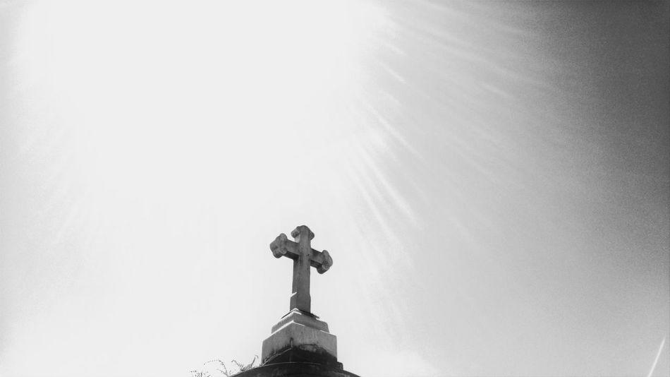 Cross Sky Church Graveyard Beauty Graveyard