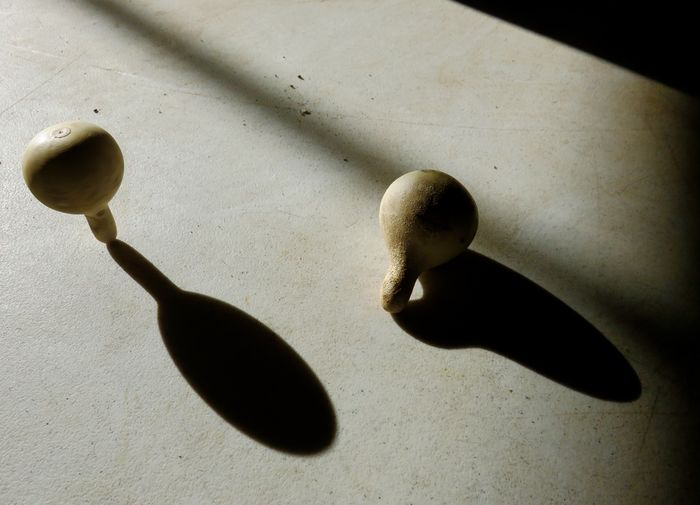 Grow your own toy. Gourds High Angle View Home Grown Little Mini Shadow Spinning Around Spinning Top Toy