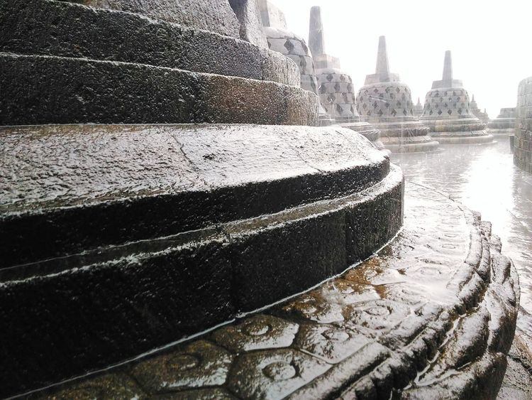 Architecture Architecture Built Structure Water Building Exterior City No People River Outdoors Nautical Vessel Day Sky Cityscape Borobudur DiscoverIndonesia Jawatengah Borobudur Temple Discover  Candi Explore Photography Photooftheday Rainy Days Rainnyday💧☔☔