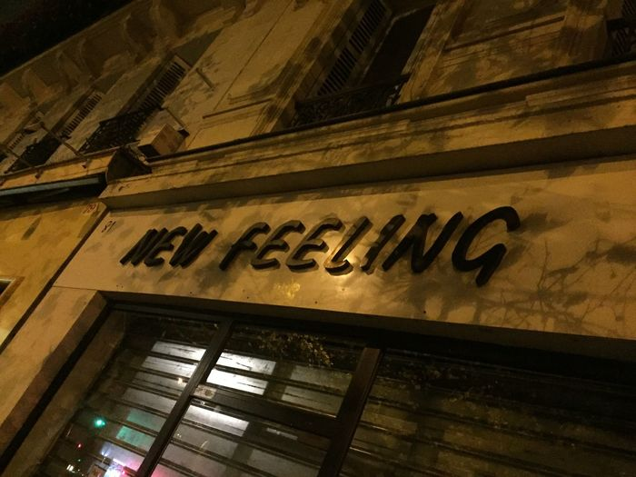 Text Low Angle View Architecture Built Structure Communication Building Exterior No People Outdoors Day Neon City New Feeling Paris Paris By Night Streetphotography