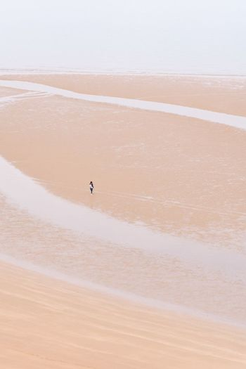 Pembrokeshire Wales Tiny People Tenby Beach Minimalism Minimal Land Sand Beach Desert Scenics - Nature Beauty In Nature Nature Landscape Tranquility Water High Angle View Sea The Great Outdoors - 2018 EyeEm Awards