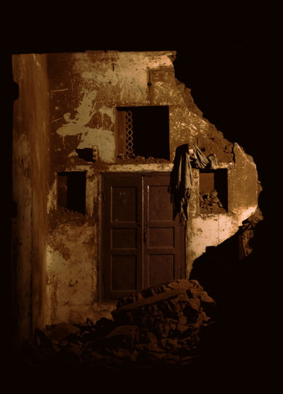 Architecture Built Structure Abandoned Old No People Damaged Run-down Obsolete Nature Door Entrance Dark History Broken Deterioration Demolished Ruined House Indoors  Night Building