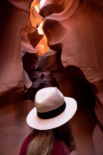 Grand Canyon Adult Antelope Canyon Close-up Clothing Day Focus On Foreground Hat Headshot High Angle View Human Face Indoors  Leisure Activity Lifestyles One Person Portrait Real People Rear View Sun Hat Sunlight Unrecognizable Person Women The Great Outdoors - 2018 EyeEm Awards The Traveler - 2018 EyeEm Awards The Traveler - 2018 EyeEm Awards 2018 In One Photograph It's About The Journey