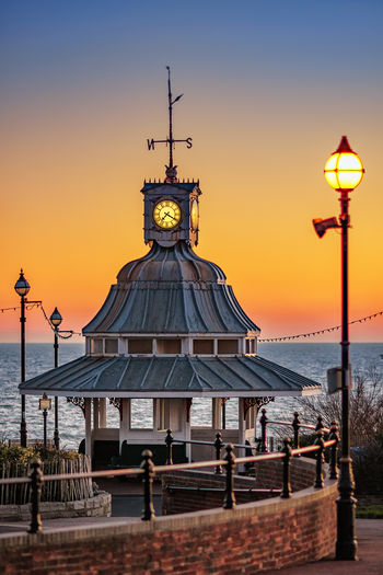 Dawn at Broadstais beach, Kent UK Architecture Broadstairs Kent England Clock Face Dawn Gazebo No People Old-fashioned Outdoors Seaside Street Light Travel Travel Destinations