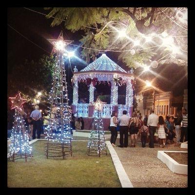 Praça do coreto em espirito de Natal.