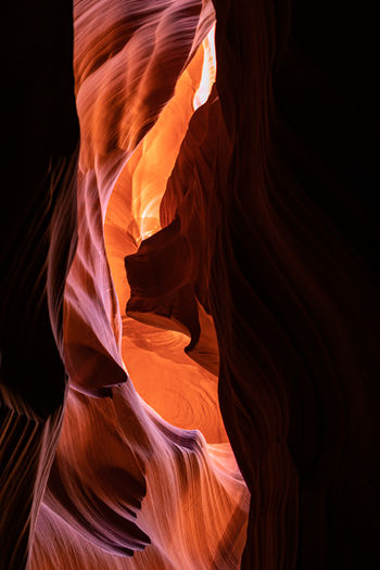 Breathtaking sand formation inside antelope canyon