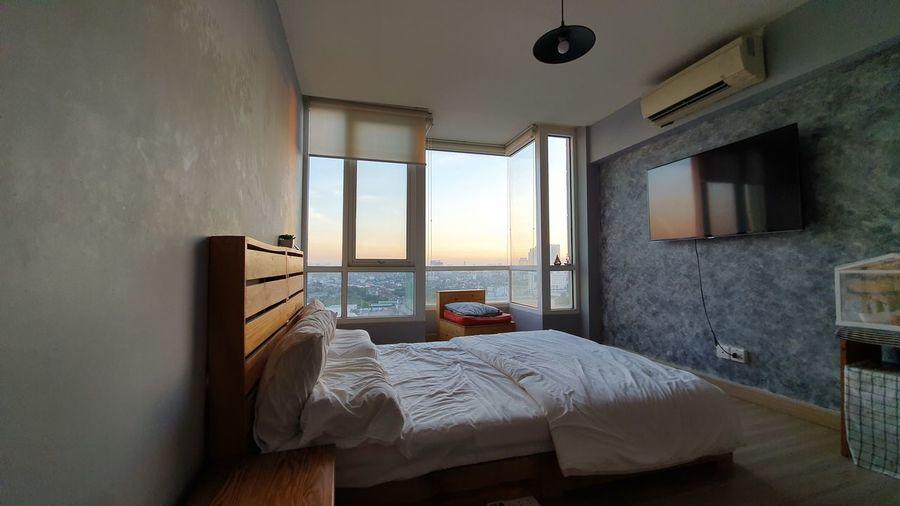 Condominium Apartment Bedroom Home Showcase Interior Bed Domestic Room Home Interior Luxury Window Double Bed Hotel Room Motel Duvet Inn Hotel Suite Hotel Pillow