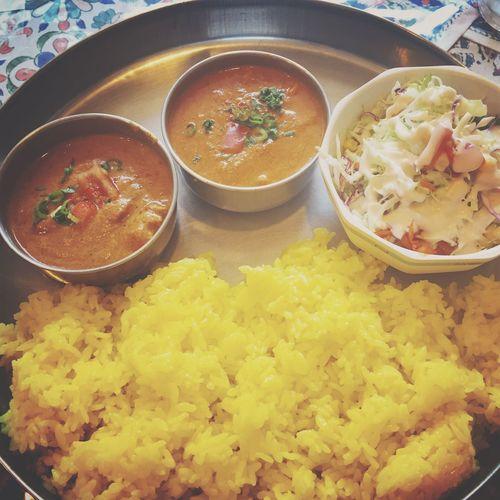 今日のカレー♬ ターメリックライス カレー インドカレー India Carry 広島 Roopali