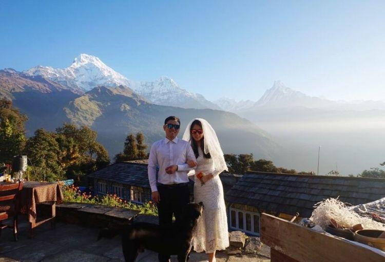 Mountain Wedding Honeymoon Nepal Trekking Poonhill Himalaya Tadapani Miles Away
