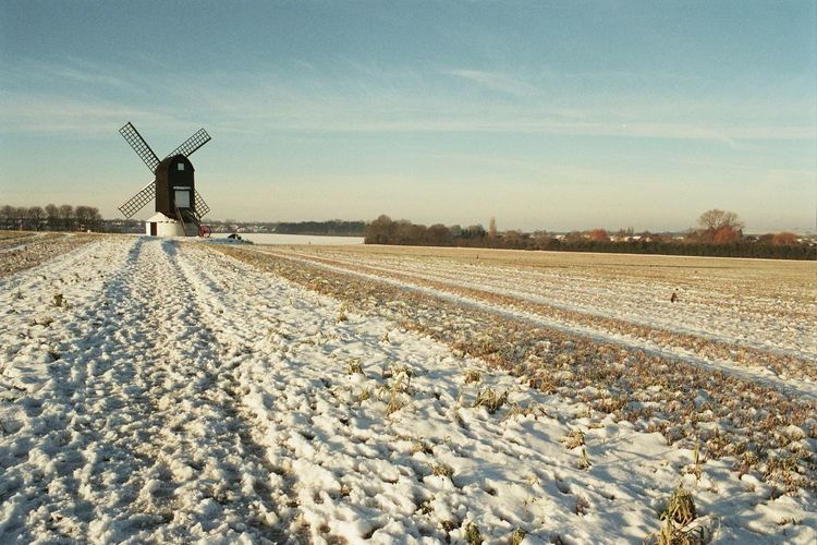 Rural Scene Sky Day Agriculture Outdoors Wind Turbine Wind Power