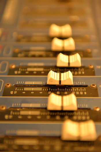 Close-up Computer Equipment Day Eyeem Philippines Indoors  Music Musical Instrument No People Technology Amplifier Ampli Amplifiers Switch Setting Settings Gauge Volume Sound Mixer Musical Equipment Control Panel Control