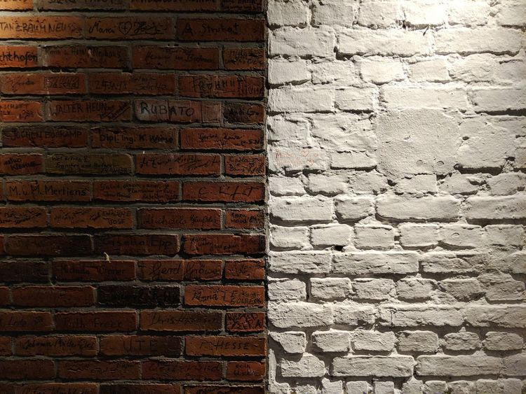 Brick Wall Full Frame Textured  Pattern Backgrounds No People Day