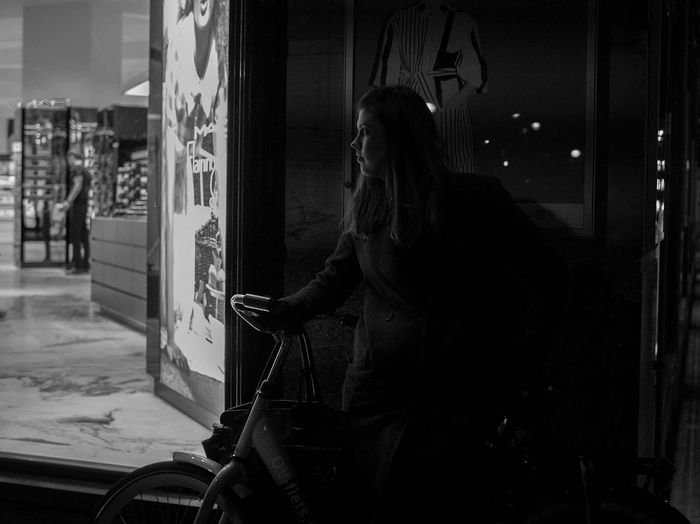 Lurking in the shadows Streetphotography Street Photography Streetphoto_bw Streetphotography_bw Blackandwhite Black And White Blackandwhite Photography Bnw Bnw_captures Bnw_collection Bnwphotography Bnw_society Watching Lurking Shadows Shadows & Lights Amsterdam Bijenkorf Night Nightphotography Night Photography
