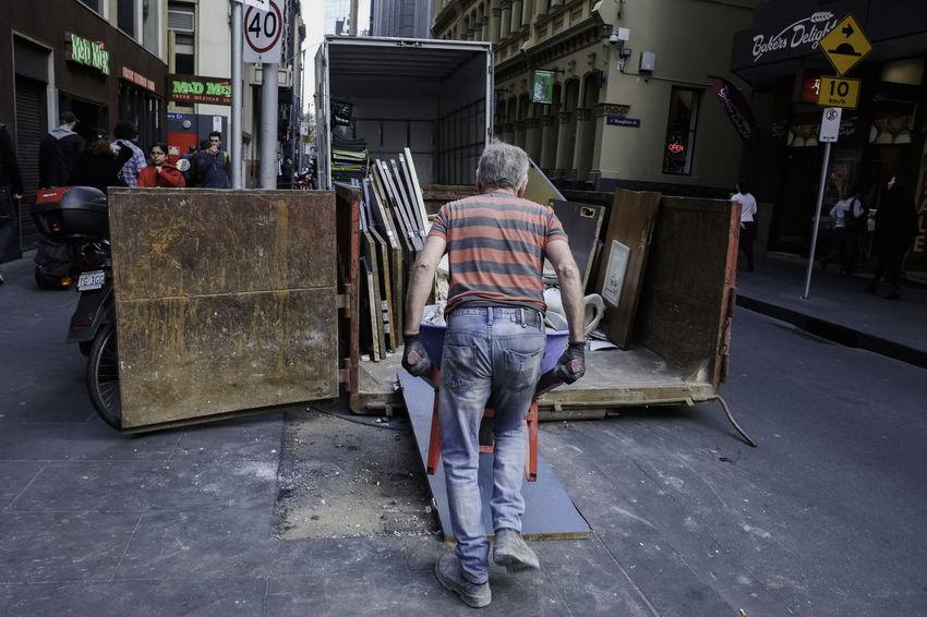 Athexphotographs Candid Demolition Zone Melbourne Street Streetphotography Urban Urbanphotography Work Workout